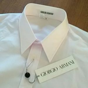 Giorgio Armani Dress Shirt 15 (34/35) Pink NWT